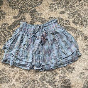 Majorelle Palmer Skirt in Rainbow Stripe